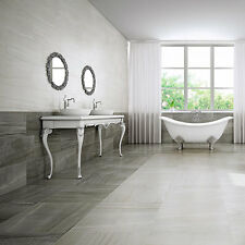 Marmol Grey Sawar Marble Effect Porcelain Floor Tiles 600x300x8mm 5-10 Sqm