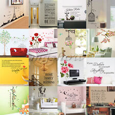Vinyl Quote Home Room Decor Art Wall Stickers Bedroom Removable Decal Mural DIY
