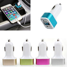 Car Charger Adaptor Bullet Dual USB 2 Port for iPod iPhone 4 5 C S Samsung HTC