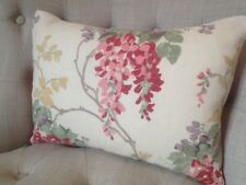 """12x16"""" cushion cover in Laura Ashley Wisteria cranberry fabric, choice of backs"""