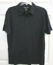 NWT BLOOMINGDALES MENS STORE S/S POLO SHIRT SILK BLEND STEEL BLUE  $145