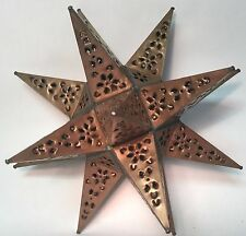"Moravian Star Wall Sconce/Ceiling Light 16"", Tin, Hand Punched"