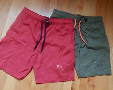 NWT Hollister Men Athletic Fleece Shorts Red or Olive Medium by Abercrombie