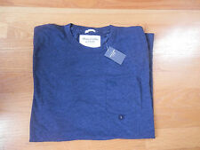 NWT Abercrombie & Fitch Crew Pocket l T-Shirt Navy By Hollister Large