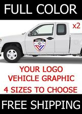 TWO (2) Custom Logo Graphic Sticker Decal Vehicle Business Full Color | 4 SIZES