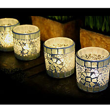 Mosaic Glass Candle Holder Tealight Votive Candlestick Lamp Party Wedding Decor