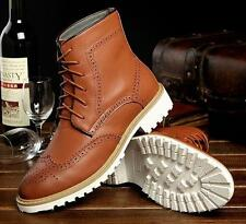 MENS ANKLE BOOTS WING TIP LEATHER BROGUE CASUAL DRESS LINED OXFORD CHUKKA SHOES