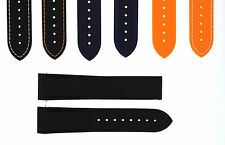 20MM 22MM RUBBER DIVER STRAP BAND DEPLOYMENT CLASP OMEGA SEAMASTER CURVED END#43