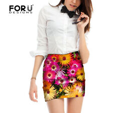 Womens Stretch High Waist Short Skirts Fashion Painting Mini Skirt Dress Elastic