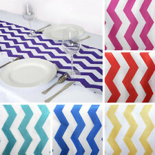 "15 TABLE RUNNERS 12x108"" CHEVRON SATIN Party Wedding Catering Linens"