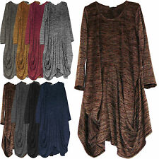 PLUS SIZE ONE SIZE LAGENLOOK ITALIAN 100% VISCOSE JERSEY PARACHUTE BOHO DRESS