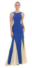 Stretch Mermaid Formal Sequins Low Back Fitted Dress Floor Length Evening MQ1134