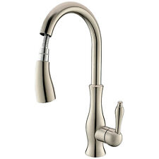Single Hole Kitchen Faucet with Pull Out Spray Monobloc Mixer Tap Swivel Spout
