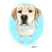 Yellow Lab Art Labrador Retriever Print Dog Portrait Ready To Frame Weeze Mace
