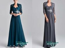Long Gown Chiffon Formal Party wedding Bridesmaid Prom Evening Dress Size 6-18++