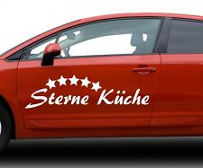 Bumper Sticker 5 star cuisine Dining Car Decoration Sticker Decal text 5Q787