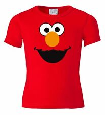 Elmo Face Kids T-Shirt - Monster - Sesame Street Childrens Tee - red - LOGOSHIRT