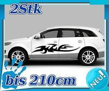 2x Sides Tribal Car Sticker, Tuning Tribal, Sports Racing Auto Sticker 2n237