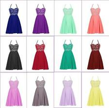 Mini Prom Cocktail Evening Party Gowns Wedding Bridesmaid Dresses Hot Sale Sex