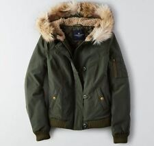 NWT American Eagle Outfitters FLIGHT BOMBER JACKET Coat Green - XS M L XL
