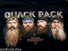 Quack Pack Duck Dynasty T-Shirt Uncle Si Willie Phil Commander Youth Sizes