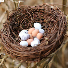 Handmade Vine Brown Bird Nest House Home Nature Craft Holiday Decoration NEW