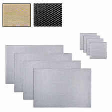 Set Of 4 Glitter Diamante Drinks Coasters Coffee Dining Table Mats Tableware