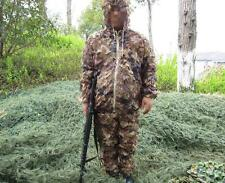 3D Netting Desert Camo Hunting Jacket&Pant Yowie Sniper Paintball Ghillie Suit
