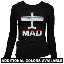 Fly Madrid MAD Airport Women's Long Sleeve T-shirt LS - Spain Iberia Real - S-2X