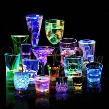 LED Light Up Flashing Beer Mug Drink Cup Wine Glass For Bar Party Wedding Club
