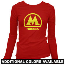 Moscow Metro Women's Long Sleeve T-shirt LS - Russian Mockba Subway Rail - S-2X