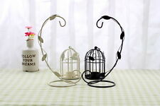 Metal Bird Cage Candle Holder With Leaves Nice Wedding / Table / Party Decor