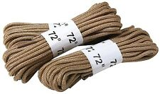 """Boot Laces 72"""" Nylon Tan Military Boot Laces (3 Pack) 61914"""