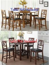 Modern Curved Diamond Cutout Design Back 2 Colors Counter Height Dining Chairs