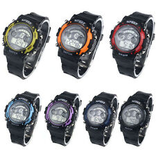 Hot Waterproof Sport LED Digital Child Watch Unisex Multifunction Movement Watch