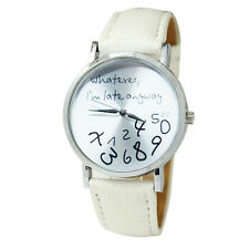 Hot Womens Letters Vogue Watch Girls Quartz Casual Shockproof Wrist Watches Gift