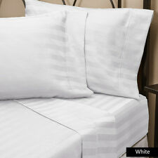 """New Striped Pattern """"White"""" Extra Type of Sheets Item Choose Deep Pocket's 800TC"""