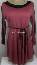 Womens Maternity Shirt Top With Belt Purple 3/4 Sleeve Blouse Size S M L New