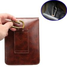 Universal Genuine Real Leather ClipTravel Bag Pocket Pouch Cellphone Case Cover