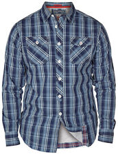 MENS BIG SIZE SHIRT D555 KONA WINE CHECK LONG SLEEVE SHIRT KING SIZES 2XL TO 6XL