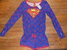 DC COMICS Super Girl Super Man Superman Long Sleeve Romper Outfit Costume
