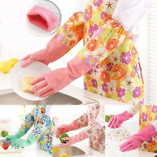 Exquisite Housework Rubber Latex Kitchen Glove Long Dish Cleaning Tools