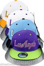 American City Los Angeles Flat Peak Baseball Snapback Hip Hop La Caps + Gift Box