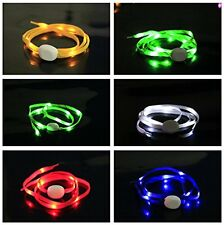 I Pair (2pcs) LED Nylon Light Up Shoelaces Flashing Shoe Laces