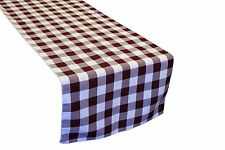 """Table Runner Checkered Polyester 12X72"""" By Broward Linens (Variety Of Colors)"""