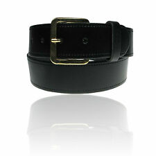 """Mens Real Leather Belt 3 Widths Black & Brown Leather 28""""-62"""" Made in England"""
