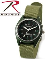 Military Style Field Watch OD Green Military Wristwatch 12 & 24hr Dial 4104