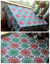 Vintage Handmade Colorful Crochet Doily Blanket Bedspread Tablecloth Large Sizes
