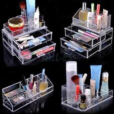 Holder Makeup Case Drawers Cosmetic Organizer Jewelry Storage Acrylic Display