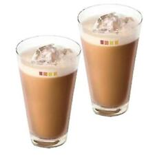 Set of 2 Nescafé Dolce Gusto Ice Cappuccino Coffee Cup Cold Drink Iced Tea Glass
